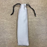 Custom straw drawstring pouch