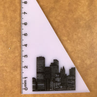 Custom acrylic set square ruler printing 03