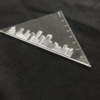 Custom acrylic set square ruler printing 04