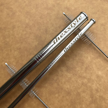 Custom Stainless Steel Straw set