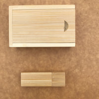 Custom Bamboo thumb drive set