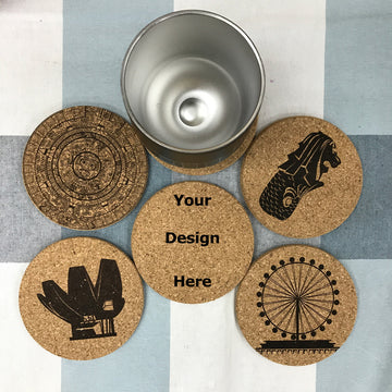 Custom Cork Coaster Printing 03