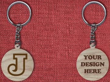 Solid wood keychain J