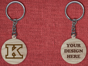 Solid wood keychain K