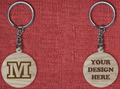 Solid wood keychain M