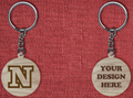 Solid wood keychain N