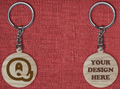 Solid wood keychain Q