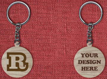 Solid wood keychain R