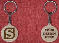 Solid wood keychain S