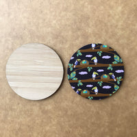 Custom Bamboo Fridge Magnet 04
