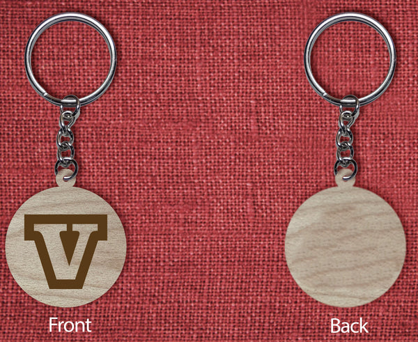 Solid wood keychain V