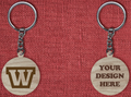 Solid wood keychain W