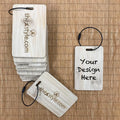 Custom Bamboo Luggage Tag 01 (15 pcs per set)