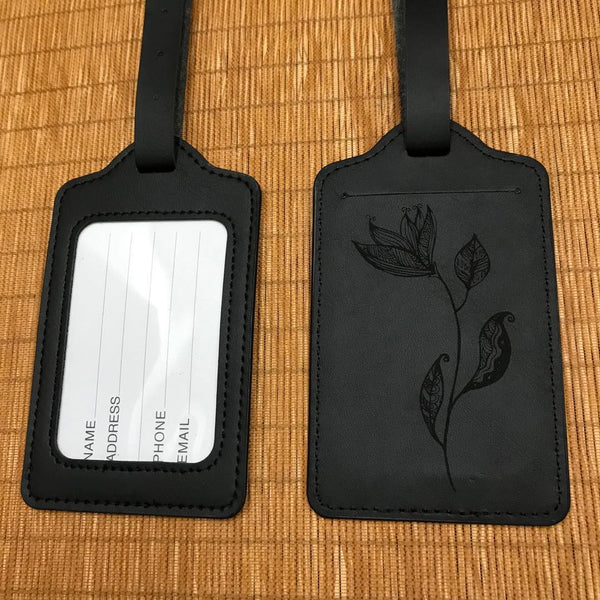 Custom PU Luggage Tag 31 (2 pcs in one set)