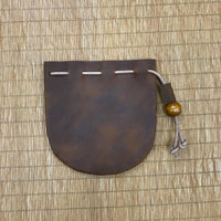 Custom Genuine Leather Drawstring Pouch 01