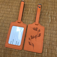 Custom PU Luggage Tag 34 (2 pcs in one set)