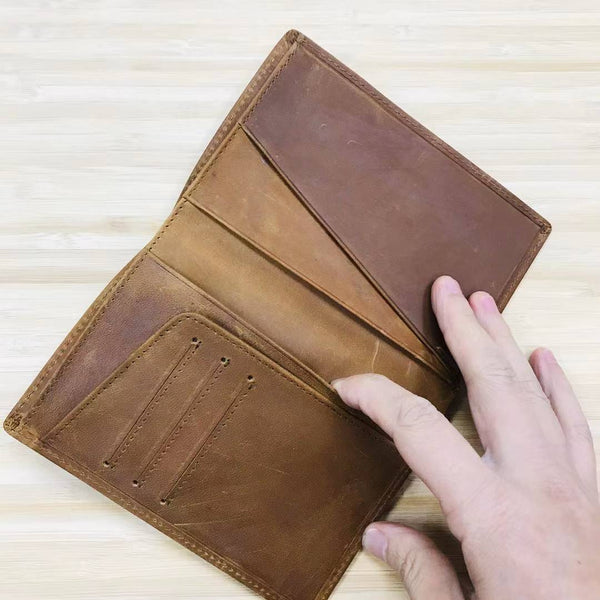 Custom Genuine Leather Passport holder 03