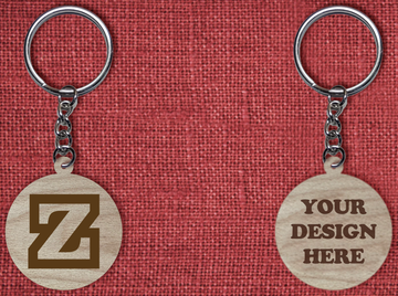 Solid wood keychain Z
