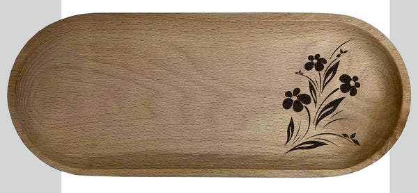 Custom solid wooden tray 16