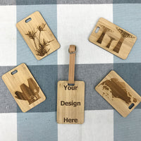 Custom Bamboo Luggage Tag 13