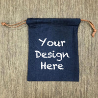 Custom Denim Drawstring Bag 103