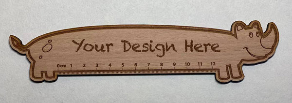 Custom Solid Wood Ruler 02