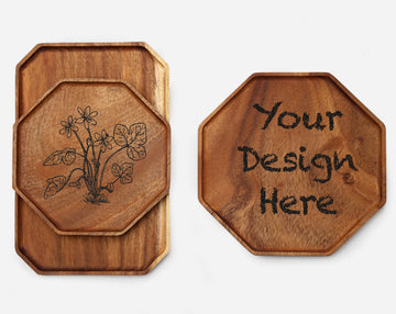 Custom solid wooden tray 19(25x2cm)