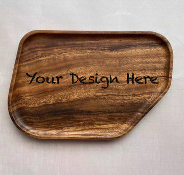 Custom solid wooden tray 21(19.8x2cm)