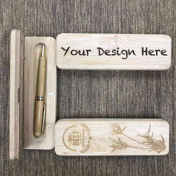 Custom Bamboo Ball Pen Printing 40