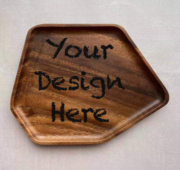 Custom solid wooden tray 20(19.5x2cm)