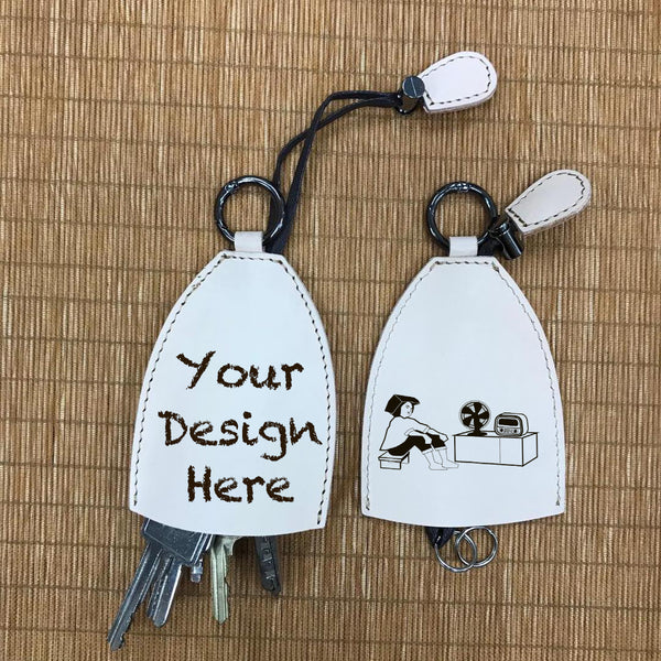 Custom Genuine Leather keychain 03