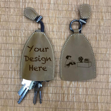 Custom Genuine Leather keychain 02