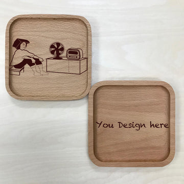 Custom Solid Wood Coaster Printing 35