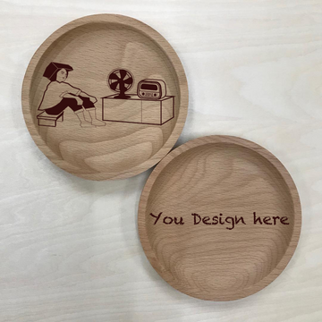 Custom Solid Wood Coaster Printing 33