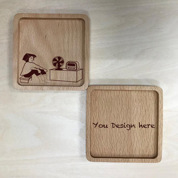 Custom Solid Wood Coaster Printing 31
