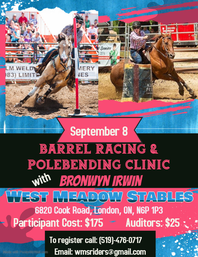 Bronwyn Hart-Irwin Barrel Racing and Polebending Clinic West Meadow Stables