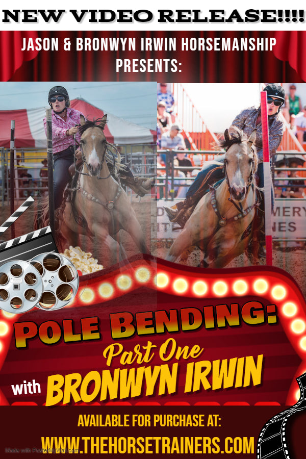 Bronwyn Irwin Pole Bending Training Video Horse Trainer Pole Bending Technique Video DVD