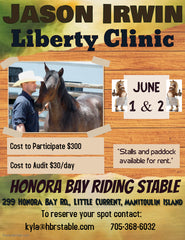 Jason Irwin Liberty Clinic at Honora Bay Riding Stables in Manitoulin Island