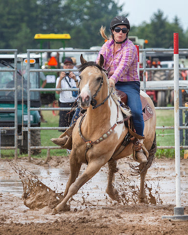 Muddy run at the Forest Ram Rodeo on Chief