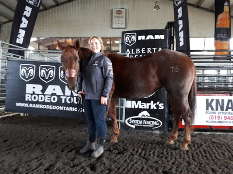 Bronwyn and Kate cowgirl rodeo polebending barrel racing horsemanship clinician coach confidence