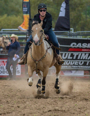 Bronwyn and Chief rodeo polebending horses cowgirl horsemanship confidence clinician Ontario