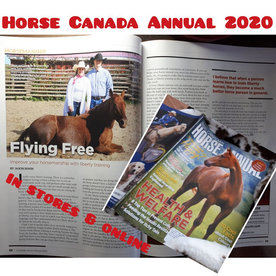 Horse Canada Magazine Annual issue Jason Irwin