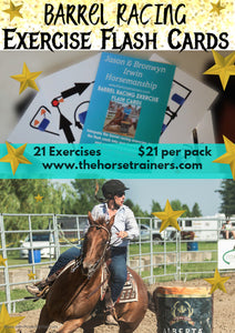 Barrel Racing Exercise Flash Cards - Ridden
