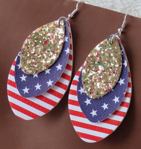 Blingin' in the USA Earrings