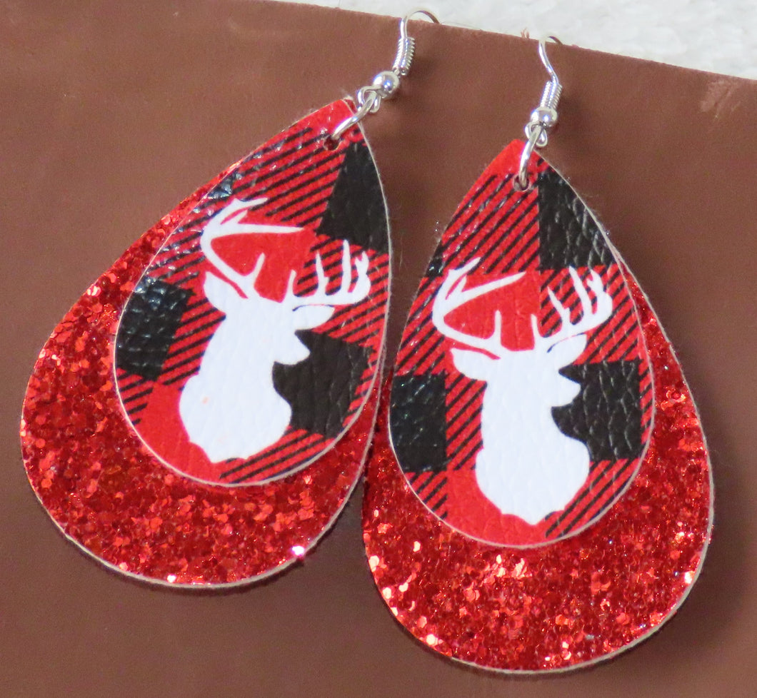 Deer Plaid Earrings