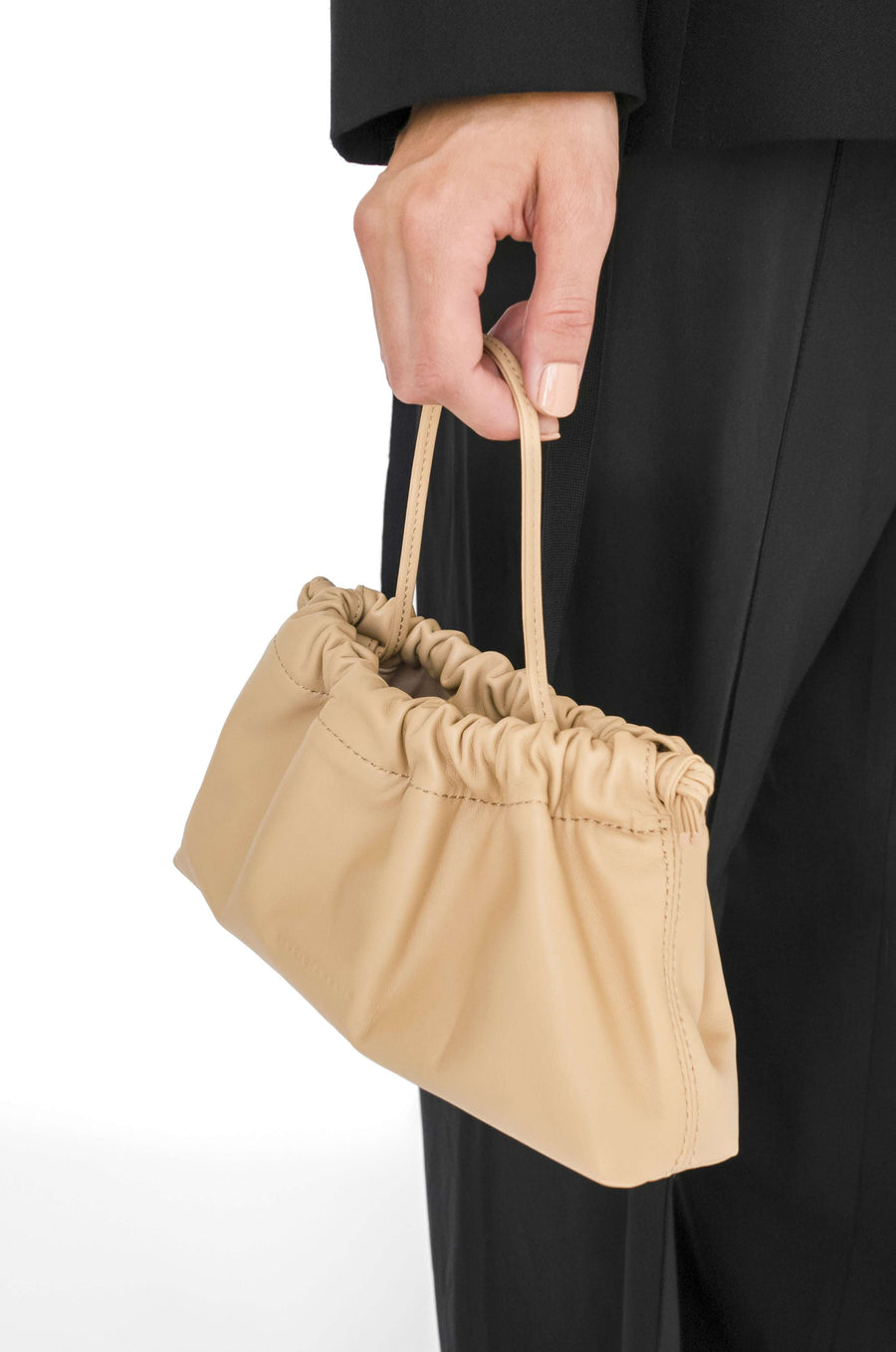 Mini Drawstring Bag | Nude