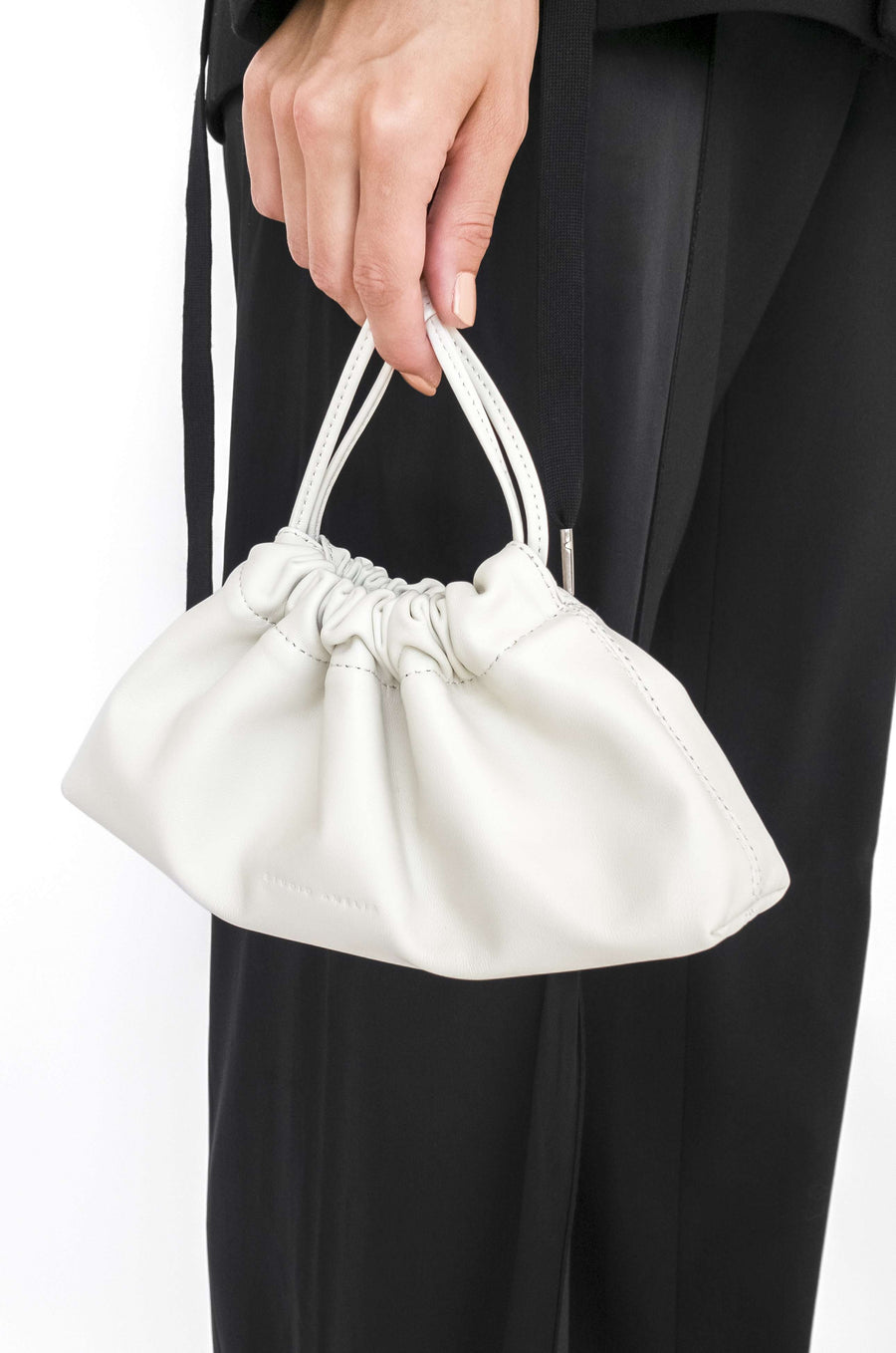 Mini Drawstring Bag | White