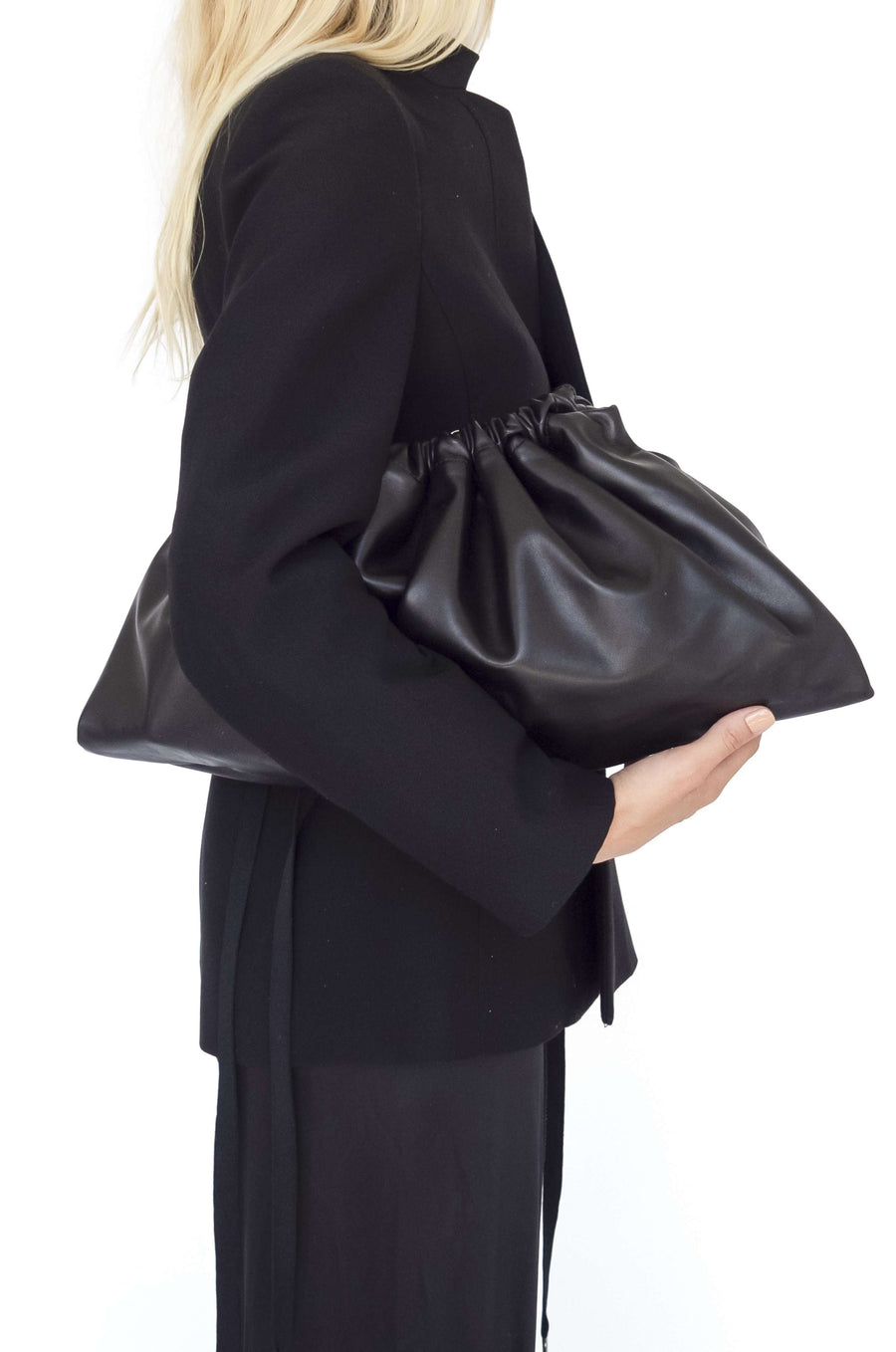 Maxi Drawstring Bag | Black
