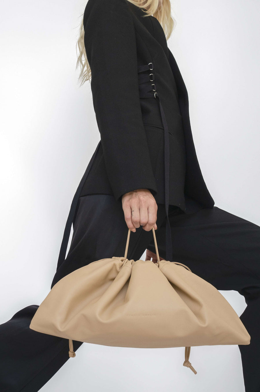 Maxi Drawstring Bag | Nude