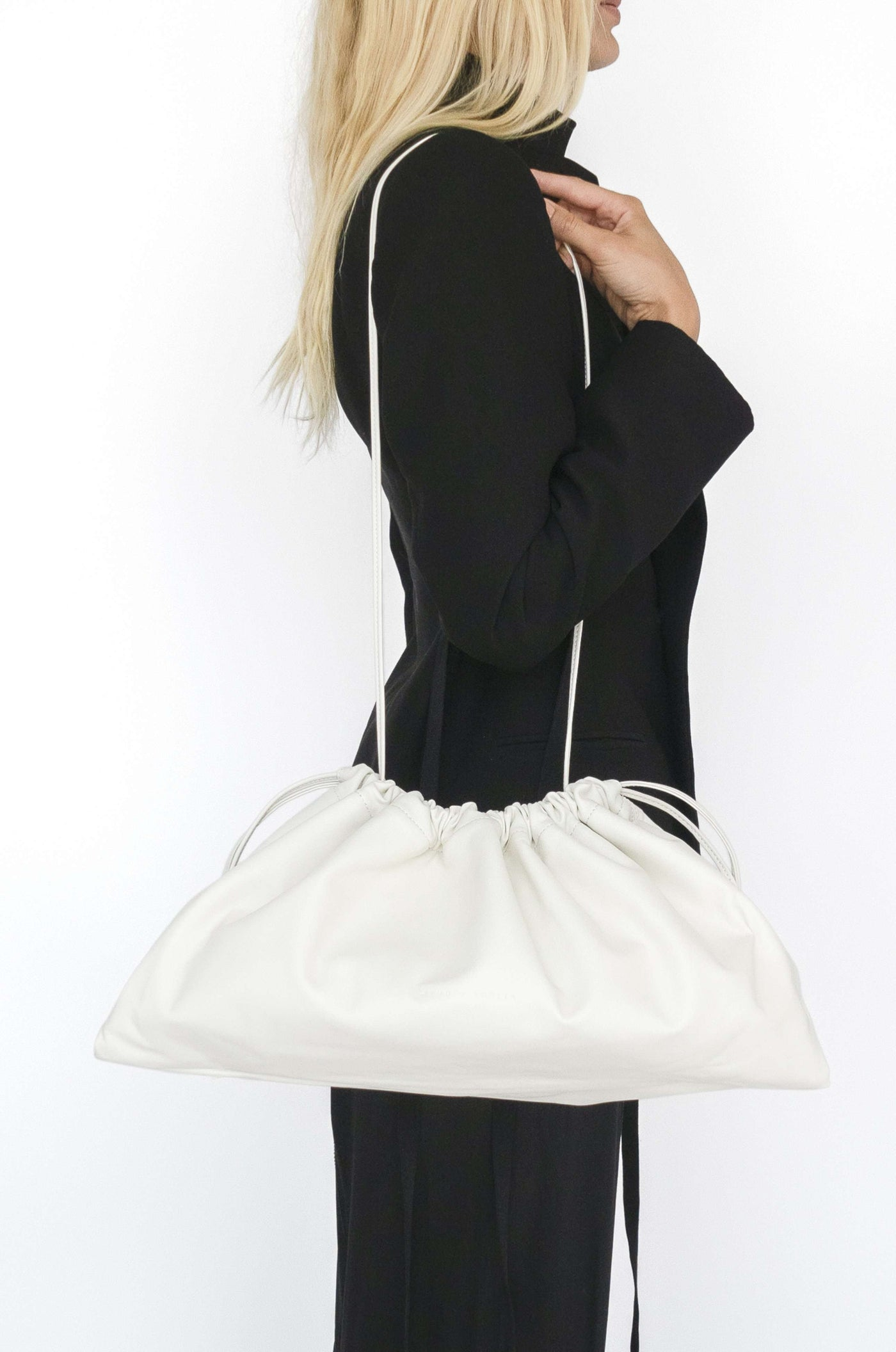 Maxi Drawstring Bag | White